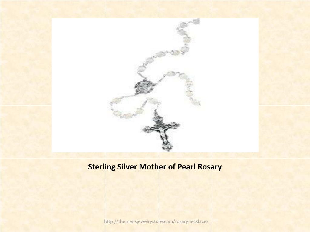 Sterling Silver Mother of Pearl Rosary