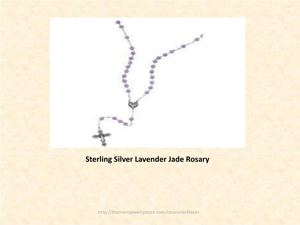 Sterling Silver Lavender Jade Rosary