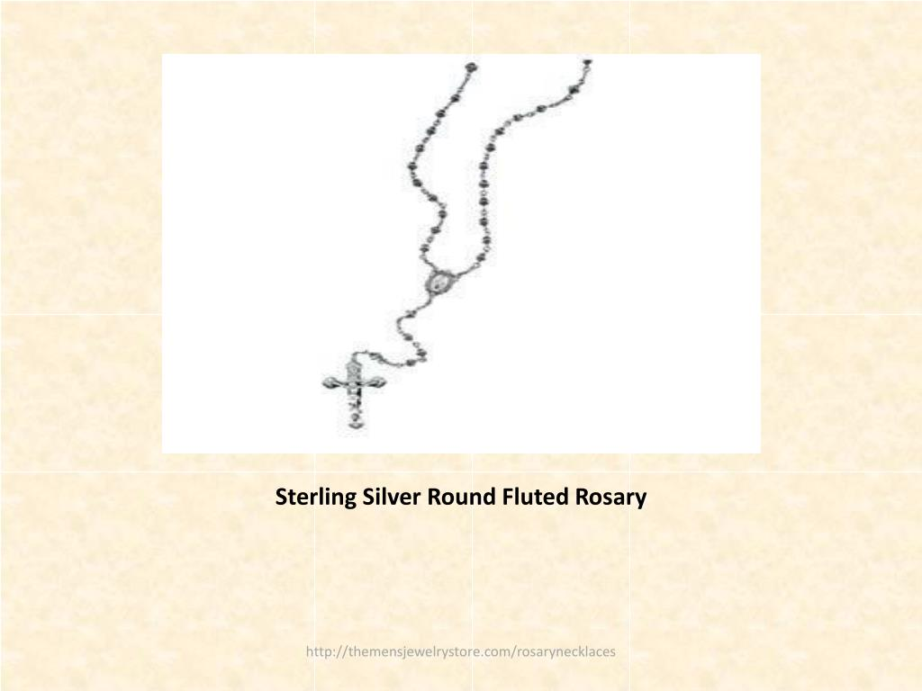 Sterling Silver Round Fluted Rosary