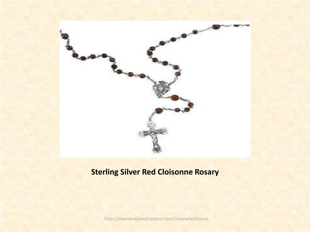 Sterling Silver Red