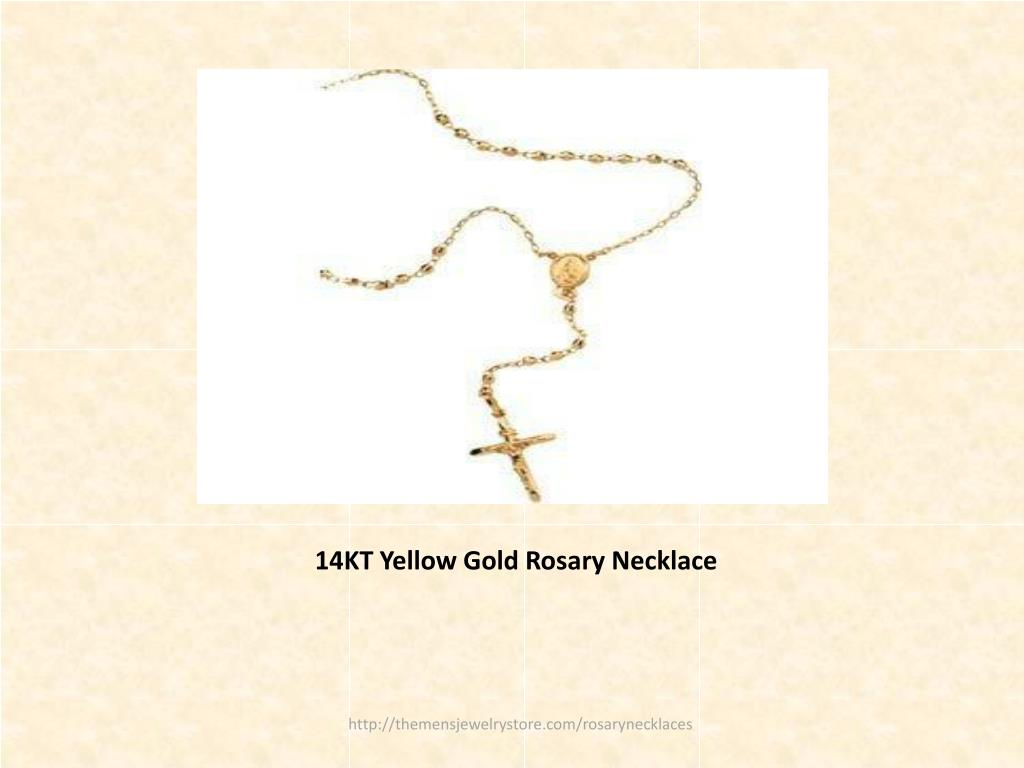 14KT Yellow Gold Rosary Necklace