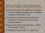 aims of egger s book preface