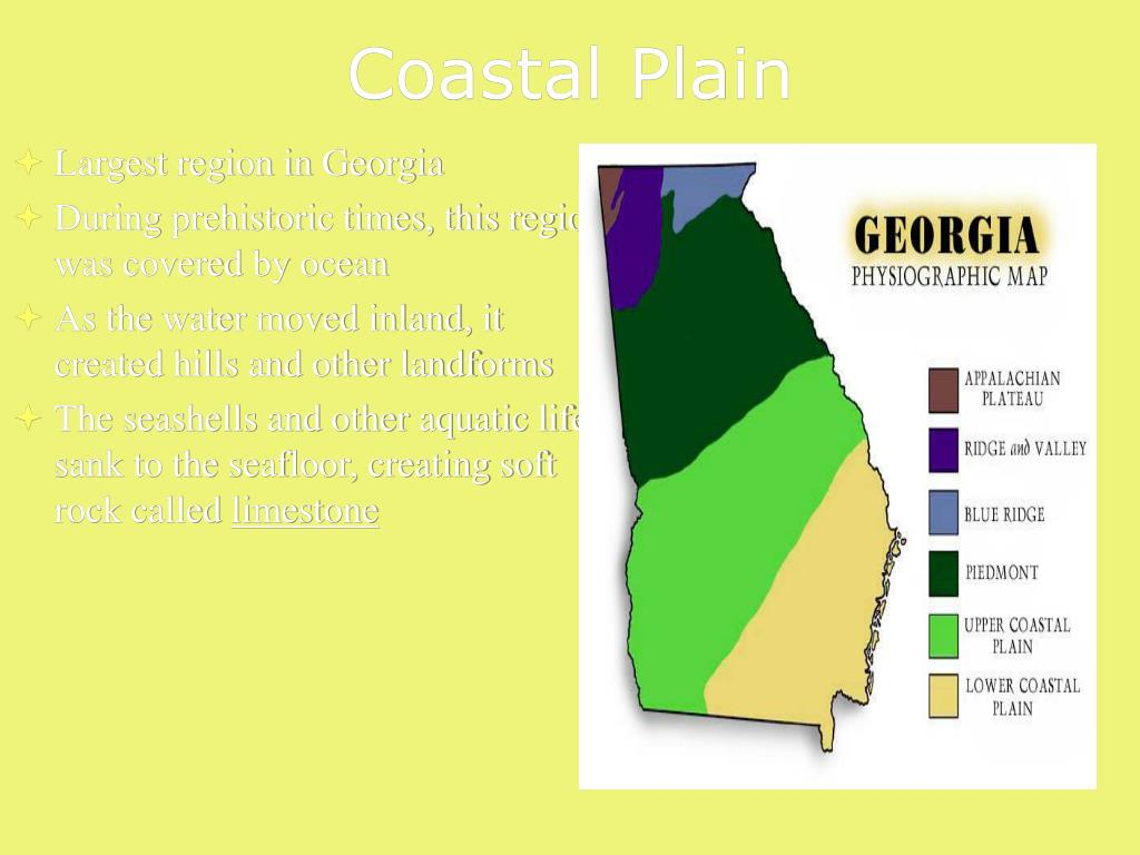 Map Of Georgia Physiographic Regions.Ppt Physiographic Regions Powerpoint Presentation Id 1254060