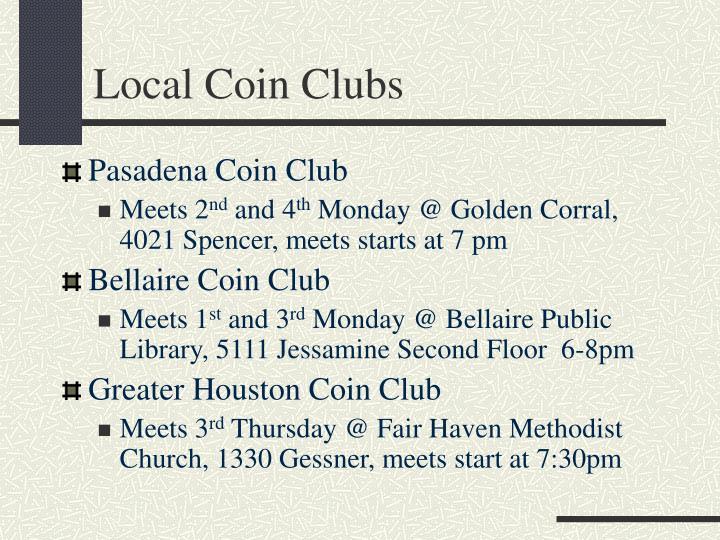 Local Coin Clubs