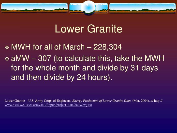 Lower Granite