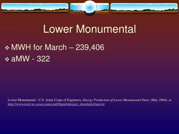 Lower Monumental
