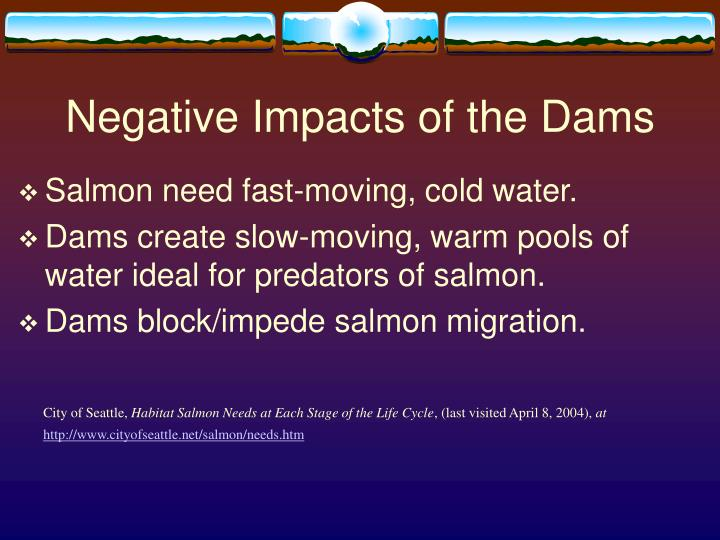 Negative Impacts of the Dams