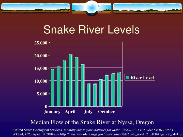 Snake River Levels