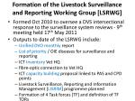 formation of the livestock surveillance and reporting working group lsrwg