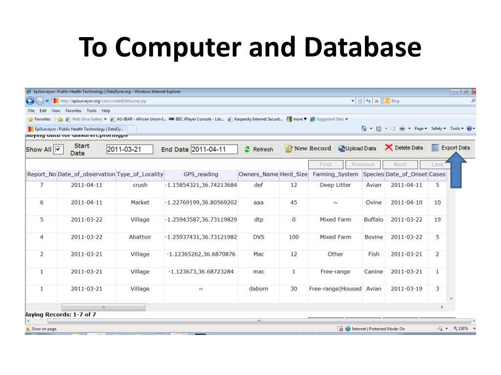 To Computer and Database