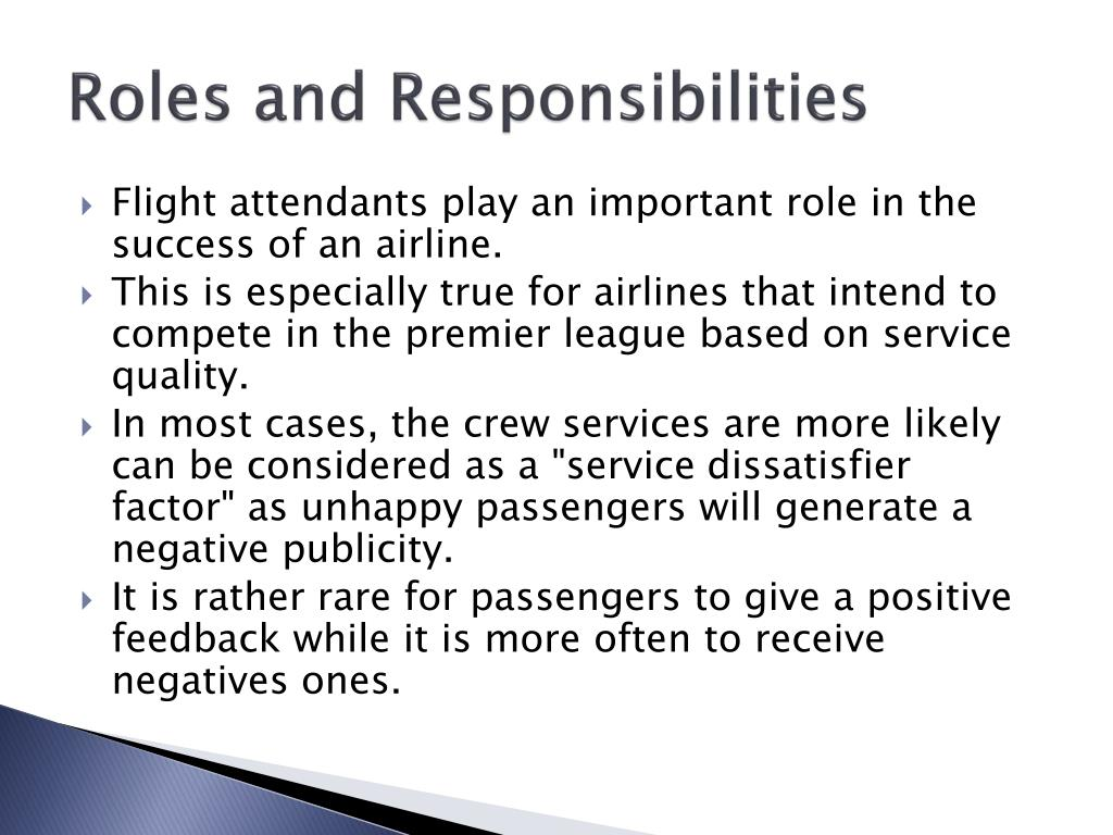 cabin crew of role and responsibilities
