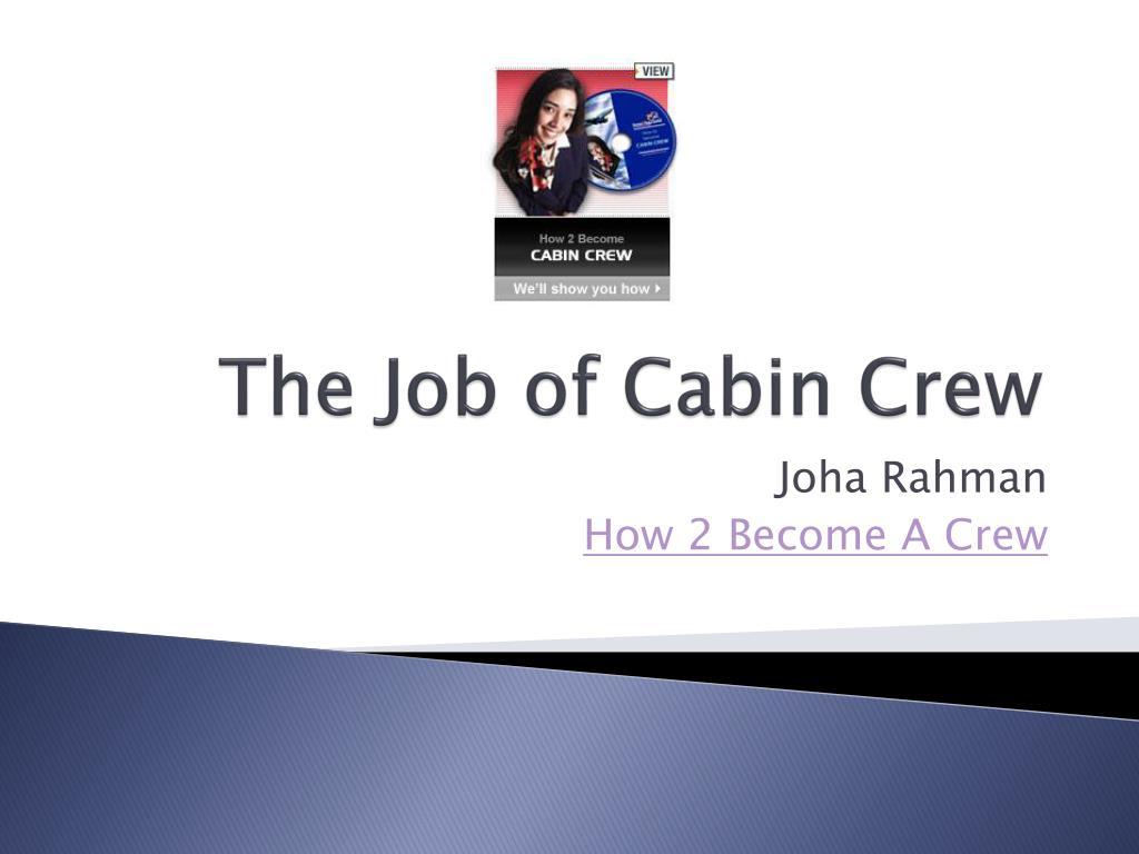 the job of cabin crew l.