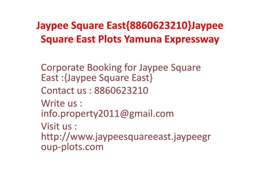 Jaypee Square East{8860623210}Jaypee Square East Plots Yamuna Expressway