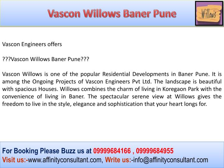 Vascon Willows Baner Pune