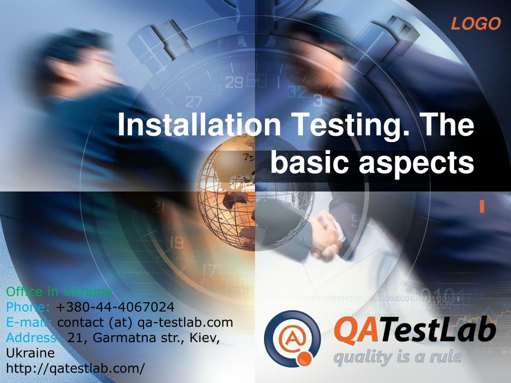 installation testing the basic aspects