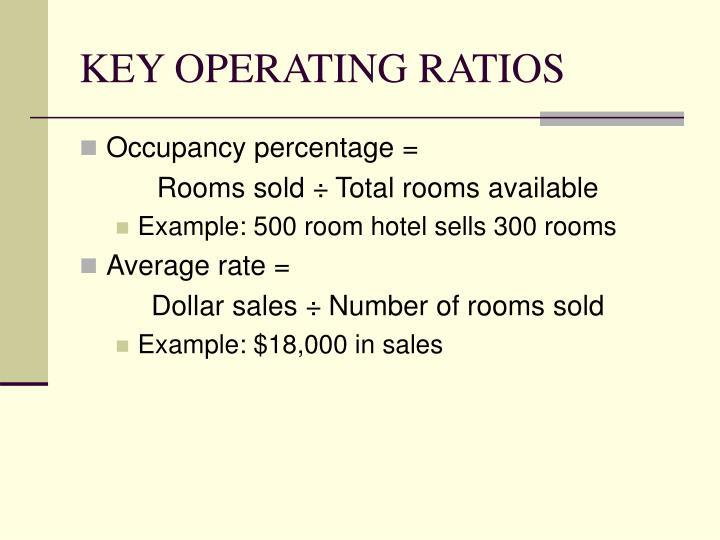 KEY OPERATING RATIOS