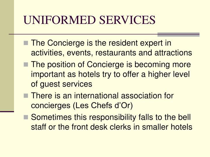 UNIFORMED SERVICES