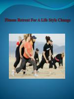 fitness retreat for a life style change
