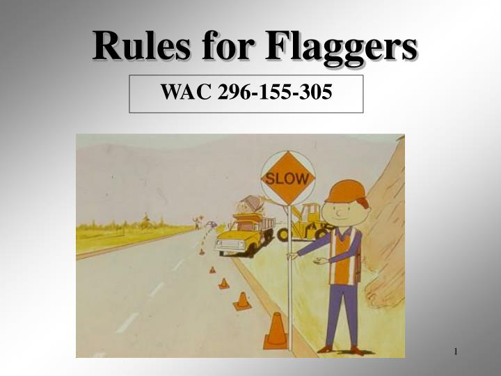 rules for flaggers n.