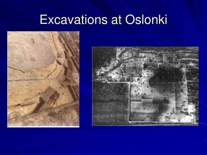 Excavations at Oslonki