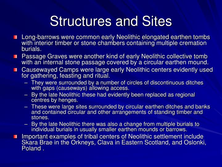 Structures and Sites