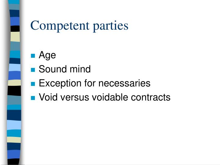 Competent parties