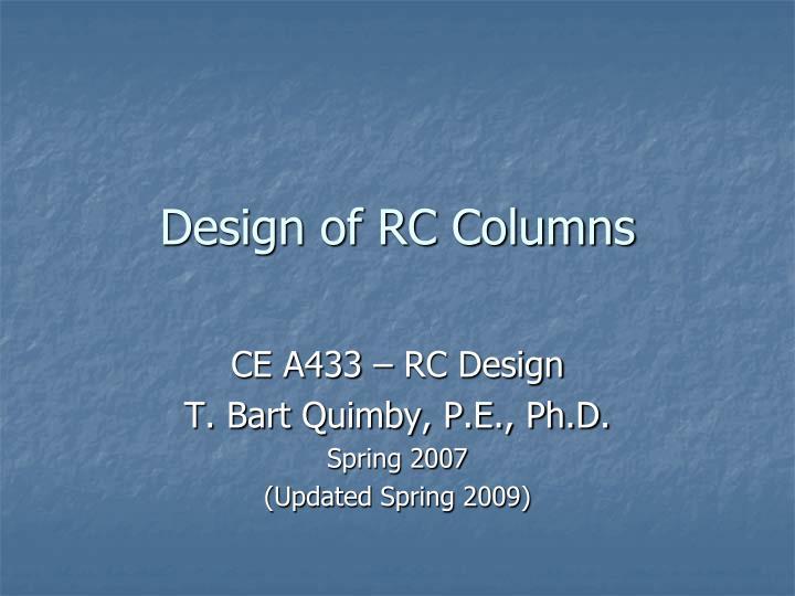 design of rc columns n.