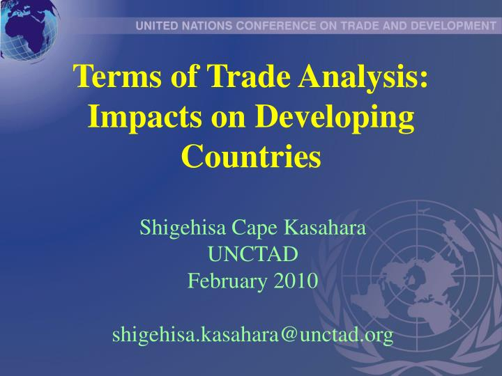 terms of trade analysis impacts on developing countries n.