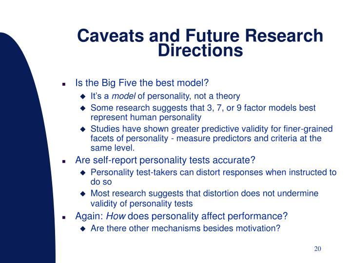 Caveats and Future Research Directions