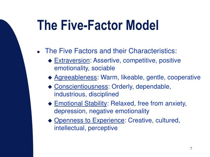 The Five-Factor Model
