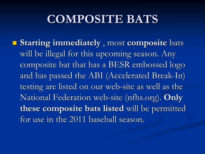 COMPOSITE BATS