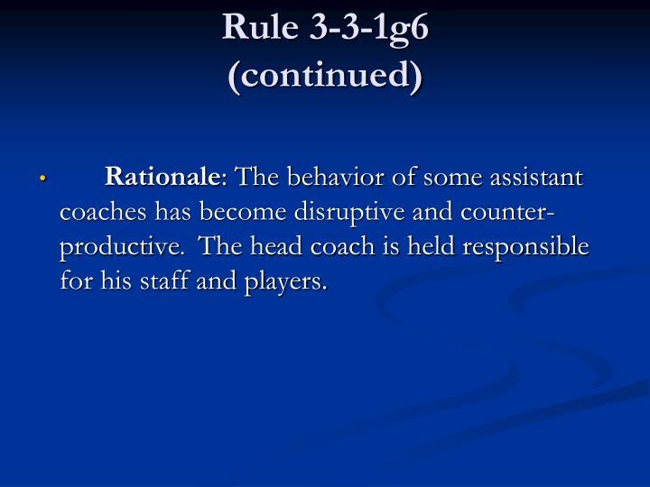 Rule 3-3-1g6