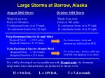 large storms at barrow alaska