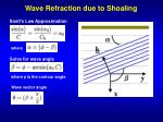 wave refraction due to shoaling
