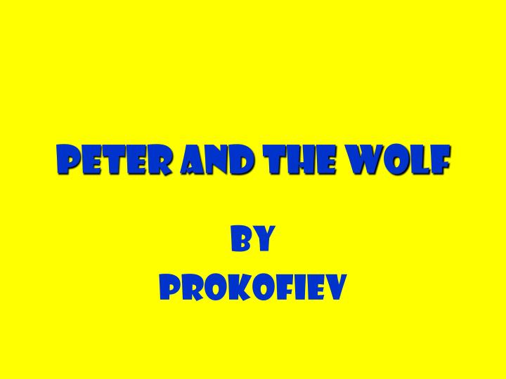 peter and the wolf n.