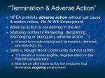 termination adverse action