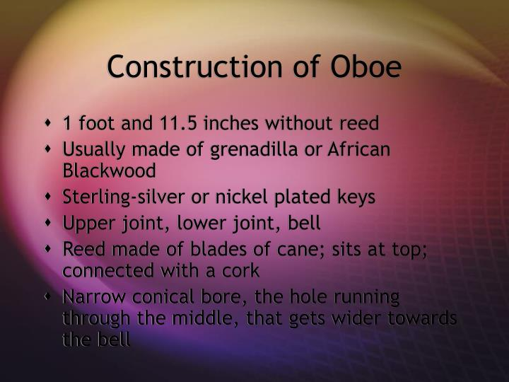 Construction of Oboe