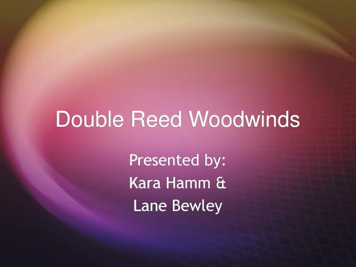 double reed woodwinds n.