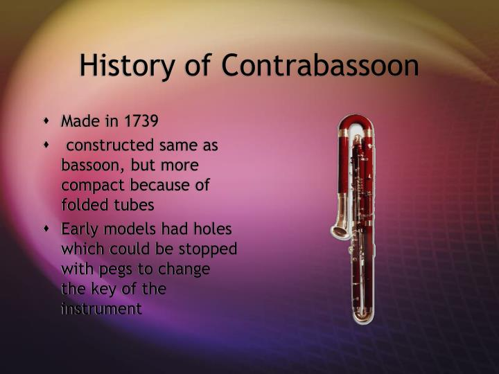 History of Contrabassoon