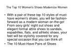 the top 10 women s shoes modernize women