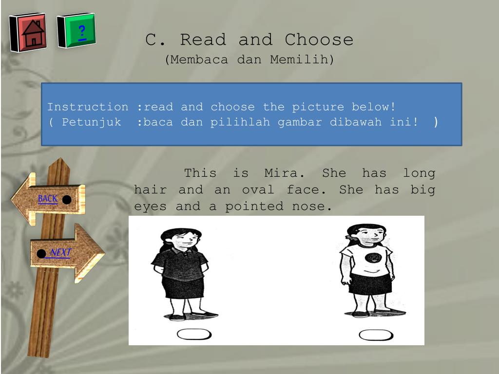 C. Read and Choose
