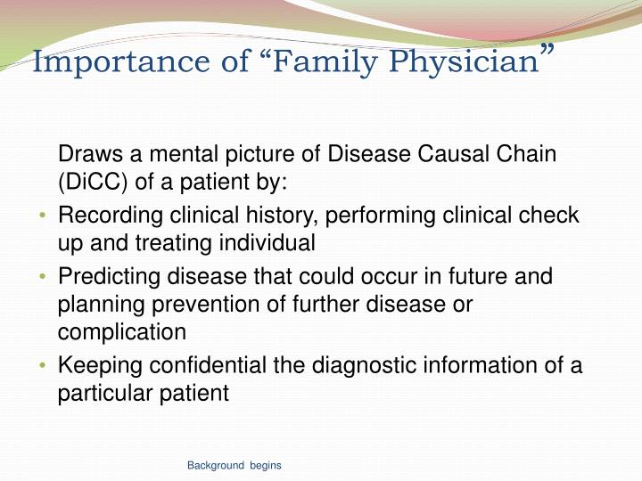 """Importance of """"Family Physician"""