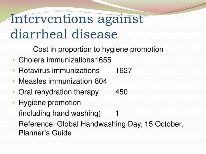 Interventions against diarrheal disease