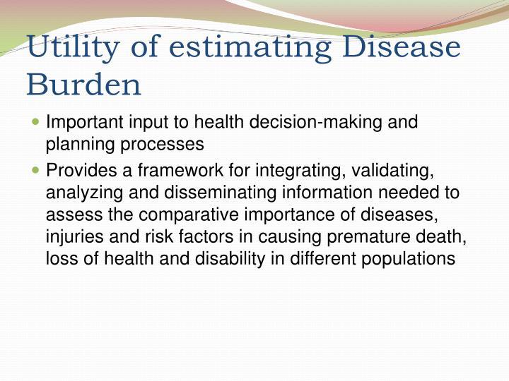 Utility of estimating Disease Burden