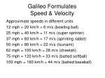 galileo formulates speed velocity1