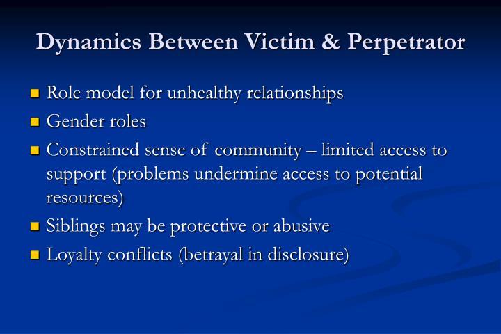 Dynamics Between Victim & Perpetrator