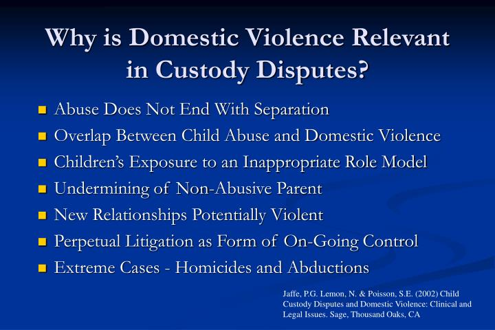 Why is Domestic Violence Relevant in Custody Disputes?