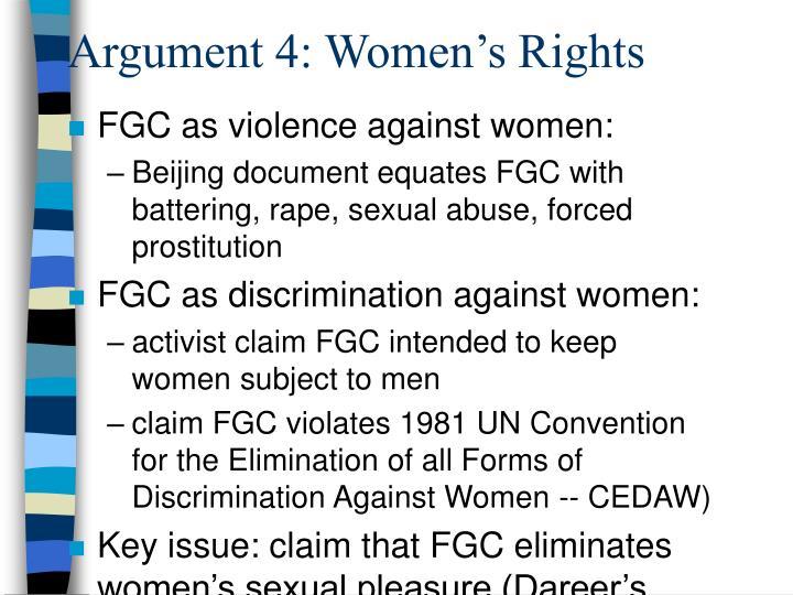 Argument 4: Women's Rights
