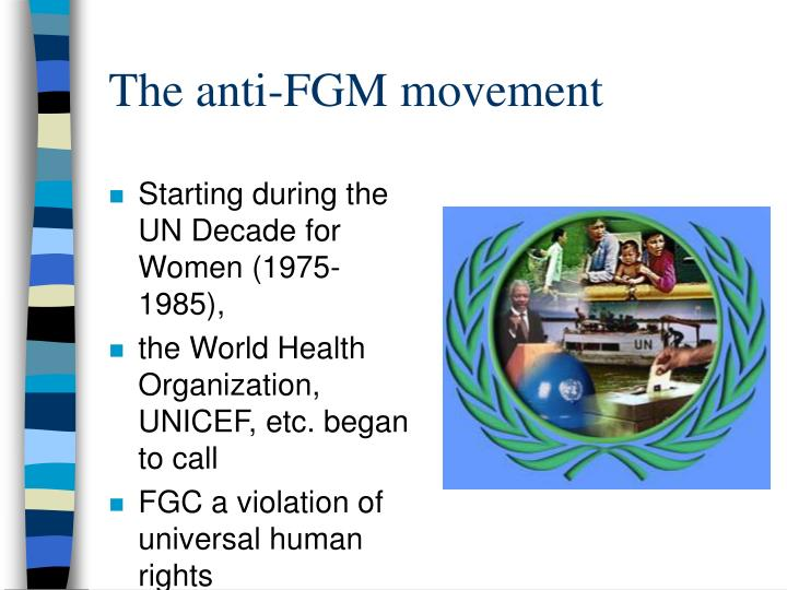 The anti-FGM movement
