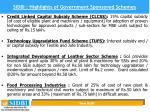 sidbi highlights of government sponsored schemes